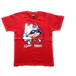 生産中止 広島東洋カープ×機動戦士ガンダム Tシャツ (シャア坊や) 子供/レッド 赤 carp 未使用品 PR|d-suizan-p