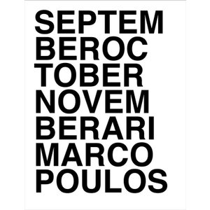 [代官山 蔦屋書店限定販売]Ari Marcopoulos 『SEPTEMBER OCTOBER NOVEMBER』|d-tsutayabooks