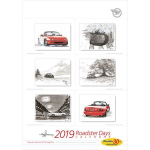 Roadster Days 2019 Roadster 30th Anniversary カレンダー|d-tsutayabooks