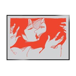 [額装あり/受注生産] 上村一夫シルクスクリーンポスター A2サイズ シルバー|d-tsutayabooks