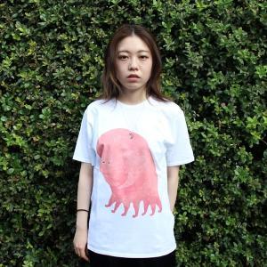 [代官山 蔦屋書店限定]イラストレーター・三好 愛 Tシャツ「おなかいたいときT」|d-tsutayabooks