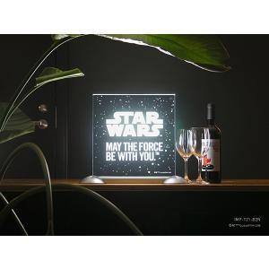 STAR WARS スター・ウォーズ【受注商品】 FLOATING LIGHT SIGN SW EDITION (Sサイズ)|d-tsutayabooks
