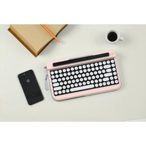 [ポイント5倍] タイプライター風 キーボード PENNA (Pink) d-tsutayabooks