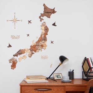 3D Wood Japan Maps 日本地図 木製 ナチュラルウッド Enjoy The Wood Japan d-tsutayabooks