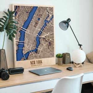 City Map NewYork 都市地図 ニューヨーク Mサイズ Enjoy The Wood Japan d-tsutayabooks