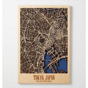 City Map TOKYO 都市地図 東京 Mサイズ Enjoy The Wood Japan d-tsutayabooks