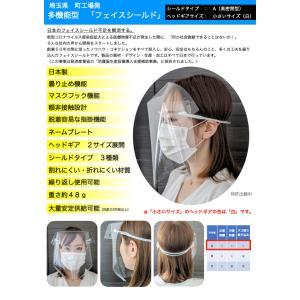 【お徳用・団体様向け】フェイスシールド 飛沫防止 曇り止め 超軽量(48g) 呼吸しやすい 髪型崩れない 額非接触 100セット(小さいサイズ)|d1kasei