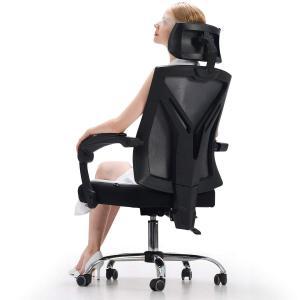 Hbada オフィスチェア メッシュ デスクチェア - ハイバック 可動式アームレスト 昇降ヘッドレ...