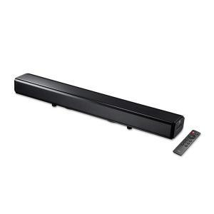 サンワダイレクト サウンドバー 2.1ch 60W Bluetooth/光デジタル/3.5mm/RCA リモコン付 サブウーファー×2 テレビ スピーカー 400-SP081の商品画像|ナビ