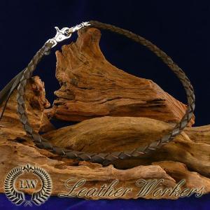 ウォレットロープ ブラウン 4本編み レザーウォレットロープ ウォレットチェーン ウォレットコード レザーウォレット バイカーズウォレット WR-03|dabada