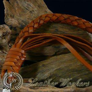 レザーウォレットチェーン ライトブラウン 8本編み レザーウォレットロープ ウォレットコード ウォレットロープ WR-06|dabada|03