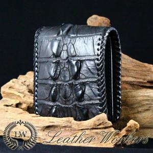 クロコダイルウォレット ショートウォレット 二つ折財布 鰐革 メンズ財布 革財布 ハンドメイド 長財布 CD-22-A|dabada