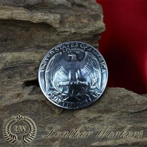 【KC-01】 コインコンチョ ウォレット 財布 25セント クゥオーターダラー|dabada