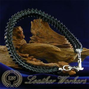 パイソンボーンロープ ブラック ウォレットロープ レザーウォレットロープ ウォレットチェーン ウォレットコード バイカーズウォレット WR-10|dabada