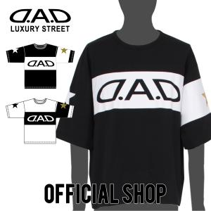 DAD ギャルソン D.A.D LUXURY STREET ラバープリント Tシャツ ビッグシルエット【DK002】2カラー GARSON おしゃれ かっこいい dad
