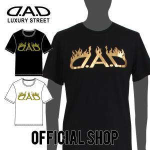 DAD ギャルソン D.A.D LUXURY STREET 箔プリント Tシャツ レギュラーシルエット【DK032】2カラー GARSON おしゃれ かっこいい dad