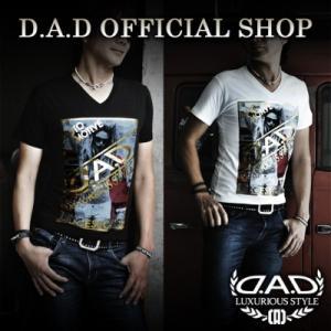 D.A.D (GARSON/ギャルソン) Tシャツ ブラック/ホワイト M,L,XL  DAA007 DAD|dad