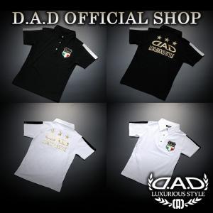 D.A.D (GARSON/ギャルソン) ポロシャツ BK-M,L,XL WH-M,L,XL DAA009 DAD|dad