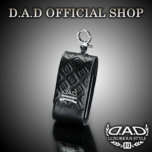 D.A.D (GARSON/ギャルソン) iQOS(アイコス)ケース  タイプモノグラムレザー ブラック 4560318737310 DAD|dad