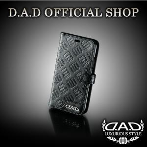 D.A.D (GARSON/ギャルソン) ラグジュアリー スマートフォンカバー iPhoneX タイプ モノグラムレザー ブラック DAD 4560318752429|dad