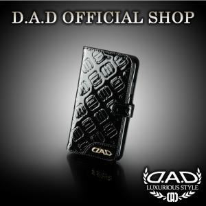 D.A.D (GARSON/ギャルソン) ラグジュアリー スマートフォンカバー iPhoneX タイプ モノグラムレザーエナメル ブラック/ゴールド DAD 4560318752450|dad