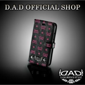 D.A.D (GARSON/ギャルソン) ラグジュアリー スマートフォンカバー iPhoneX タイプ ディルス ブラック/ピンク DAD 4560318752443|dad