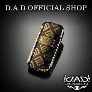 D.A.D (GARSON/ギャルソン) DAD プレミアムアイコスカバー モノグラム ブラック/ゴールド DAD|dad
