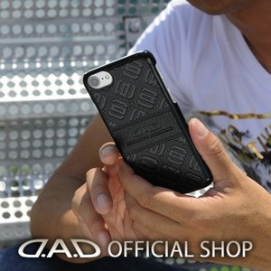 D.A.D iPhone ハードカバー モノグラムレザー [ブラック/エナメルブラック/エナメルレッド] [iPhoneX] GARSON ギャルソン DAD|dad
