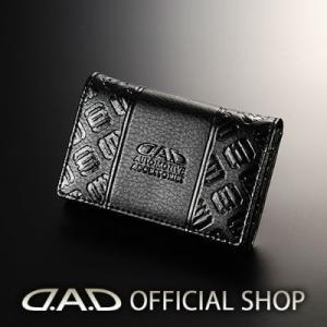 D.A.D カードケース タイプ モノグラムレザーブラック【HA504】GARSON ギャルソン DAD 4560318763043|dad