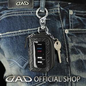D.A.D スマートキー&リモコンケース タイプ モノグラムレザーブラック【HA515】GARSON ギャルソン DAD dad