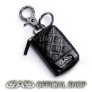 D.A.D LUXURY スマートキーケース2 タイプモノグラムレザー エナメル ブラック/シルバー HA566 4560318770164 GARSON ギャルソン DAD|dad