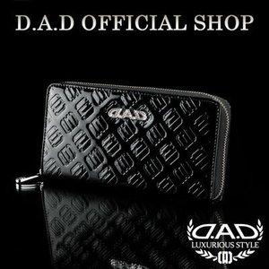D.A.D (GARSON/ギャルソン) ウォレット(財布) LE095-01 モノグラムレザーエナメルブラック/シルバーDAD 4560318747692|dad