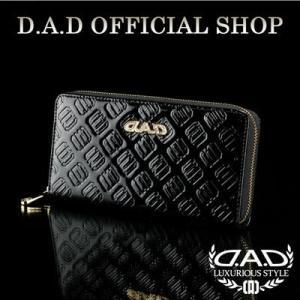 D.A.D (GARSON/ギャルソン) ウォレット(財布) LE095-02 モノグラムレザーエナメルブラック/ゴールドDAD 4560318747708|dad