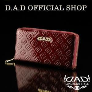 D.A.D (GARSON/ギャルソン) ウォレット(財布) LE095-05 モノグラムレザーエナメルガーネットレッド/ゴールドDAD 4560318750029|dad