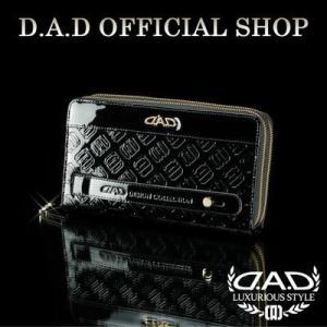 D.A.D (GARSON/ギャルソン) ウォレット(財布) LE098-12 モノグラムレザーエナメルブラック/ゴールドDAD 4560318747883|dad