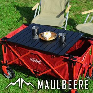 MAULBEERE/マルビーレ FOLDING TABLE ブラック アウトドア キャリーワゴン用 折り畳みテーブル 汎用 アウトドアワゴンテーブル アウトドアワゴン用 テーブル|dad