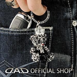 D.A.D (GARSON/ギャルソン) クリスタル ベア キーリング キング&クイーン シルバー SA820-01/SA821-01 DAD|dad