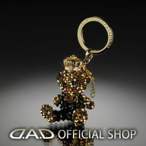 D.A.D クリスタル ベア キーリング キング/クイーン ゴールド GARSON ギャルソン DAD|dad