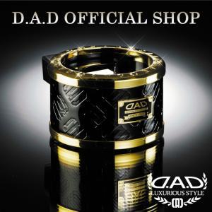 D.A.D (GARSON/ギャルソン) LUXURY ドリンクホルダー タイプ モノグラムレザーエナメル ブラック/ゴールド DAD 4560318720756|dad