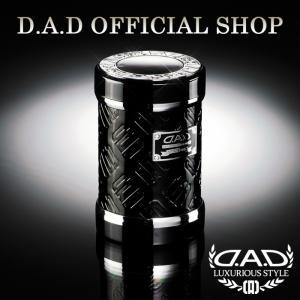 D.A.D (GARSON/ギャルソン) LUXURY アッシュボトル タイプ モノグラムレザーエナメル ブラック/シルバーDAD 4560318720770|dad