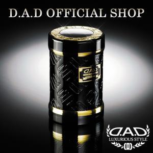 D.A.D (GARSON/ギャルソン) LUXURY アッシュボトル タイプ モノグラムレザーエナメル ブラック/ゴールドDAD 4560318720787|dad