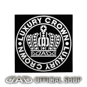 D.A.D クラウンサークルステッカー Lサイズ【ホワイト】ST141-01 GARSON ギャルソン DAD|dad