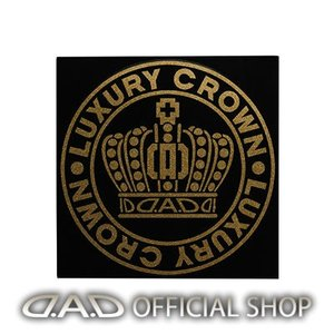 D.A.D クラウンサークルステッカー Mサイズ【ゴールドラメ】ST142-02 GARSON ギャルソン DAD|dad