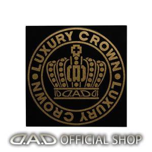 D.A.D クラウンサークルステッカー Sサイズ【ゴールドラメ】ST143-02 GARSON ギャルソン DAD|dad