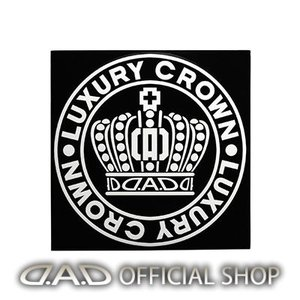 D.A.D クラウンサークルステッカー SSサイズ【ホワイト】ST144-01 GARSON ギャルソン DAD|dad
