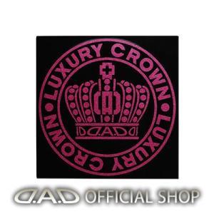 D.A.D クラウンサークルステッカー SSサイズ【ピンクラメ】ST144-03 GARSON ギャルソン DAD|dad