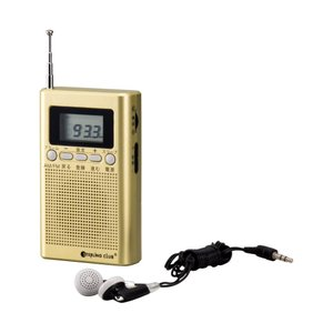 スターリングクラブ デジタルポケットラジオ 6485 6347-047小型 避難 一発選局