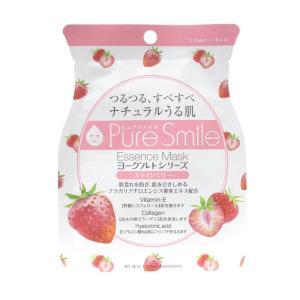 PureSmile(ピュアスマイル)  エッセンスマスク ヨーグルトシリーズ 30枚セット ストロベ...