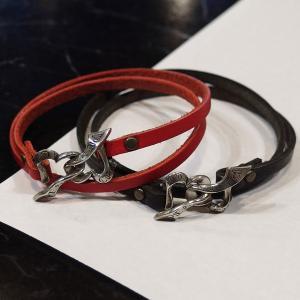 ペアブレスレット ブレスレット レザー ハート リボン シルバー925 人気 プレゼント dagdart ダグダート ペア価格 DB-133P|dagdart
