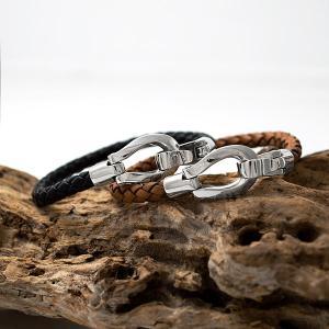 ブレスレット レザー シンプル 馬蹄 ホースシュー シルバー925 人気 プレゼント dagdart ダグダート|dagdart
